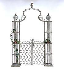 Arc rose avec porte porte 110241 en métal fer forgé 274x172 cm porte du jardin