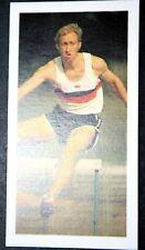 Obstacles 400 m JEUX OLYMPIQUES d'athlétisme Hemery Grande-Bretagne Action carte photo