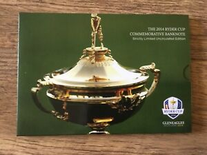 2014 RBS UNC. £5 Five Pound Note Ryder Cup Presentation Pack Limited Edition