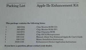 Apple IIe Enhancement Kit For Apple //e upgrade A2M2052 (UK, US, IT, FR, German)