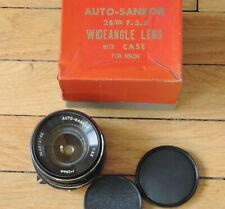 28 mm 1: 3.5 Auto-Sankor, monture Nikon F, non AI (NAI)
