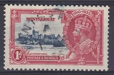 DB379) Montserrat 1935 Jubilee 1d deep blue & scarlet SG 94 with varieties