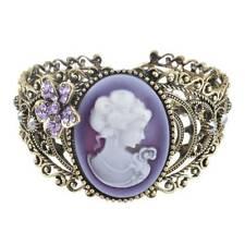 Women Ladies Vintage Cameo Statue Bangle Bracelet Rhinestones Fashion Jewelry