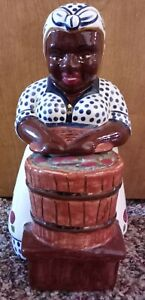 NEGATHA P GOLD TOOTH LADY COOKIE JAR mint condition