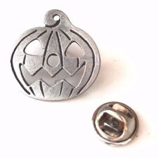 Pumpkin Halloween Handcrafted From English Pewter Lapel Pin Badge