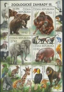 Czech Republic 2018 Wild Animals, Fauna, Zoo, Monkeys, Bears, Elephants MNH**