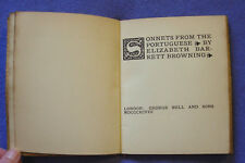 Sonnets from the portuguese by E.B. Browning (HB 1898) 1st edition. George Bell