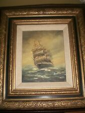 Ben Richmond Oil Framed 19 by 17 Inches-Nautical!-Vintage!-SALE!