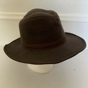 Pendleton Outback Hat Waxed Cotton Wool Lined Size L Chocolate Brown AB178-81740
