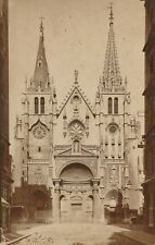 FRANCE LYON RHONE EGLISE SAINT NIZIER PREVIEUX PHOTO 1880 CABINET 11 X 16,5 cm