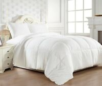 GOOSE DOWN ALTERNATIVE DOUBLE FILLED LUXURY WHITE COMFORTER KING QUEEN FULL SZ