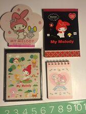 Rare Htf Sanrio Original My Melody Notepad Writing Pad Lot Cute 2008 Stationery
