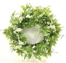 "Foliage Ranunculus Berry Twig Wreath~PVC/Silk/Artificial~22""~Green,White"