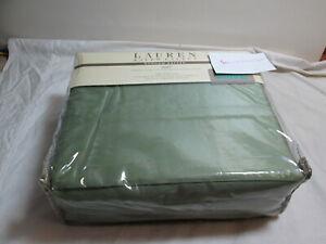 New RALPH LAUREN Dunham Cotton Sateen King Sheet Set 300 TC ~  Green New