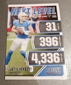 2021 Score Justin Herbert Next Level Stat