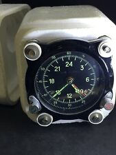Vintage Soviet Cockpit Clock, Air Force Aircraft Aviation watch block 55M#150091