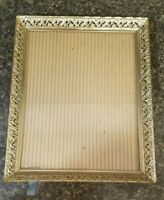 Vintage Gold Ornate Filigree Metal Picture Frame.fits 8×10 picture
