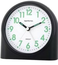 Acctim Bentima Sweeper One Silent Sweep Black Alarm Clock Light & Snooze14703