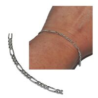 Bracelet chaîne en argent massif 925 maille cheval alternée 18,5cm bijou