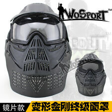 Airsoft Tactical Paintball WARGAME Face Guard Mask Goggles Neck Protection
