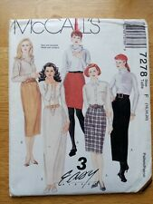 McCall's Vintage Sewing Pattern -  Skirts Size 16-20 - 1990's - VPM026-7278