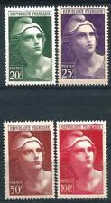 FRANCE 1945 Marianne  n° 730 à 733 neufs ★★ Luxe / MNH (C)