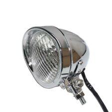 "4-3/4"" Motorcycle Chrome Vintage Headlight Lamp For harley Honda Yamaha Custom"