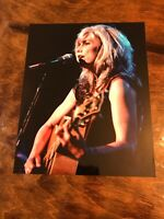 Vintage Emmy Lou Harris 8x10 Glossy Photo Singing And Playing Guitar
