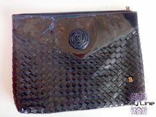 100% authentic BALLY Leather Clutch Bag black [Used]
