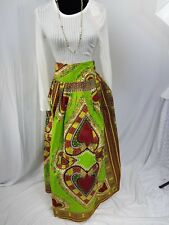 "Women African Ankara Kitenge Dashiki Print High Waist 38"" Maxi Long Skirt SIZE14"