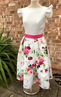 Floral Chi Chi London Fit & Flare Dress. UK Size 14