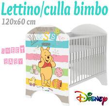 LETTINO CULLA BIMBO 120X60 CM!COLLEZIONE DISNEY2016 WINNIE POOH