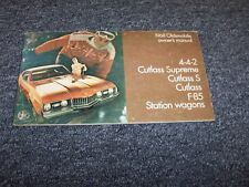 1968 Oldsmobile Cutlass Supreme Coupe Original Owner Owner's Operator Manual
