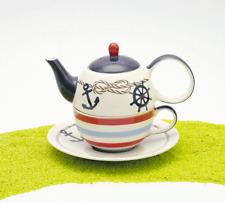ChaCult Tea for one Tea4One Set Teekanne Keramik Silje (Maritm)
