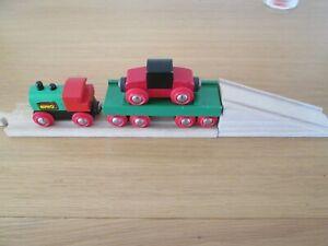 RARE BRIO TRAIN WITH CAR TRANSPORTER, 33518.
