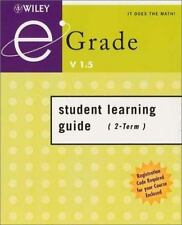 eGrade v1.5 Student Learning Guide with Registration Code (for 2-term course), I