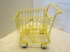 """Yellow 8"""" wire Shopping Cart Basket American girl Dolls doll house Groceries ad"""