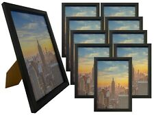 Frame Amo 6x9 Black Wood Picture Frame, Glass Front, Wall or Table 1, 3, 10 PACK