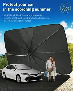 Car Fron UV Windshield Sun Shade Visor Umbrella 56'' x 31'' 360° Rotation
