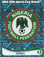 Panini WM 2014 469 Nigerien Nigeria 14Wappen Logo Glitzer Badge Foil
