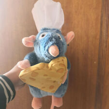New Disney Ratatouille Remy Rat With Cheese White hat Soft Plush Toy