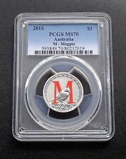 2016 Australia Silver $1 One Dollar Coin - M - Magpie - PCGS Graded MS70