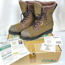 Cabelas Gore Tex Thinsulate Ultra Hunting Hiking Boots 13 D Vibram Lug Soles