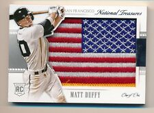 2015 National Treasures * MATT DUFFY * Game Worn USA FLAG Patch * RC * #1/1