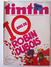 b)TINTIN n°36 du 4/09/1979 - 10 ans de Robin Dubois + Programme TV