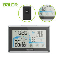Baldr B0340 Digital Lcd Touch Screen Weather Station Indoor Outdoor Hygrometer