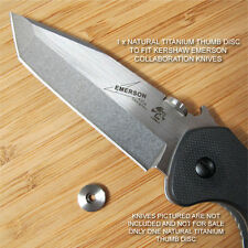 Kershaw Emerson CQC-1K 2K 3K 4K 5K 6K 7K 8K Knife Titanium Thumb Disc - NATURAL