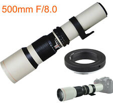 JinTu 500mm f/8 T-Mount Telephoto Lens for Nikon F D90 D3300 D5300 SLR Cameras