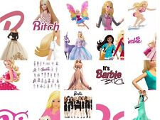 Barbie Iron on T Shirt heat Transfer diy free postage cartoon doll