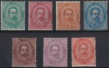Umberto I SASS 37-43 Complete Set MLH */MNH ** c.5 and l.2 have integrated rubbe...